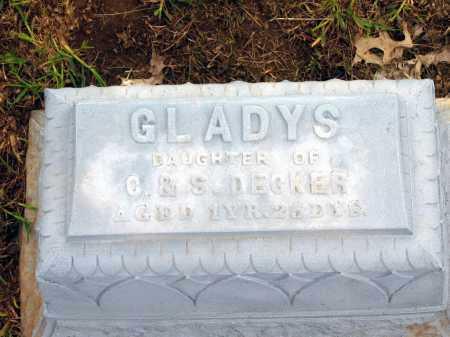 DECKER, GLADYS - Seneca County, Ohio   GLADYS DECKER - Ohio Gravestone Photos