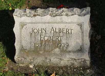 EGBERT, JOHN ALBERT - Seneca County, Ohio | JOHN ALBERT EGBERT - Ohio Gravestone Photos