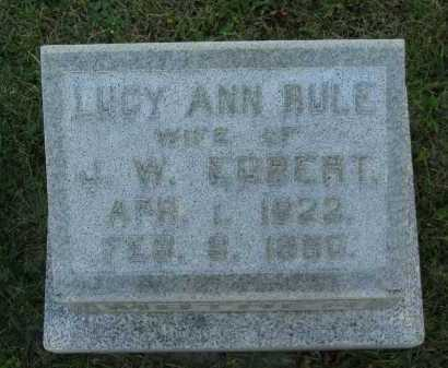 RULE EGBERT, LUCY ANN - Seneca County, Ohio | LUCY ANN RULE EGBERT - Ohio Gravestone Photos