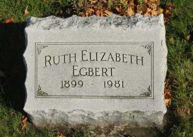 EGBERT, RUTH ELIZABETH - Seneca County, Ohio | RUTH ELIZABETH EGBERT - Ohio Gravestone Photos