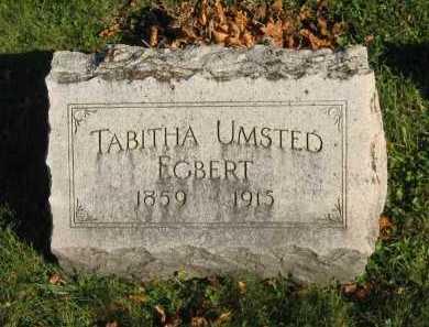 UMSTED EGBERT, TABITHA - Seneca County, Ohio   TABITHA UMSTED EGBERT - Ohio Gravestone Photos