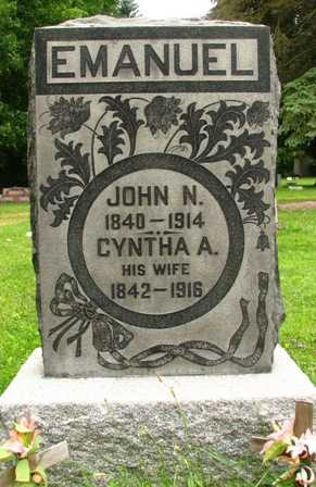 EMANUEL, JOHN N. - Seneca County, Ohio | JOHN N. EMANUEL - Ohio Gravestone Photos
