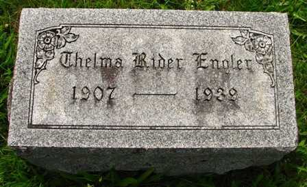 RIDER ENGLER, THELMA - Seneca County, Ohio | THELMA RIDER ENGLER - Ohio Gravestone Photos