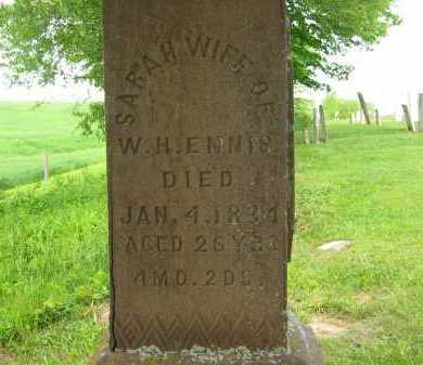 ENNIS, W. H. - Seneca County, Ohio | W. H. ENNIS - Ohio Gravestone Photos