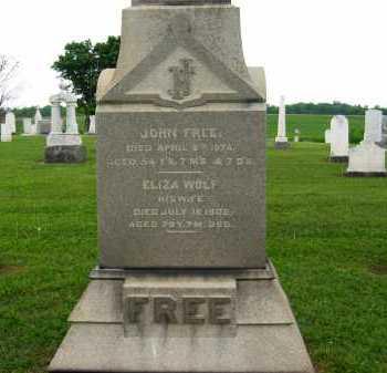 FREE, ELIZA - Seneca County, Ohio | ELIZA FREE - Ohio Gravestone Photos