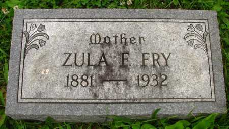 FRY, ZULA - Seneca County, Ohio | ZULA FRY - Ohio Gravestone Photos