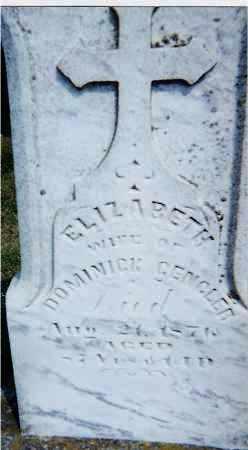 GENGLER, ELIZABETH - Seneca County, Ohio | ELIZABETH GENGLER - Ohio Gravestone Photos
