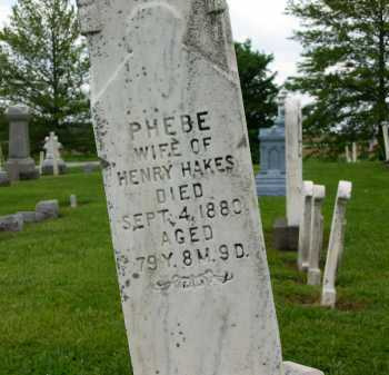 HAKES, PHEBE - Seneca County, Ohio | PHEBE HAKES - Ohio Gravestone Photos