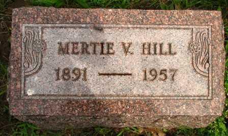 HILL, MERTIE V. - Seneca County, Ohio   MERTIE V. HILL - Ohio Gravestone Photos