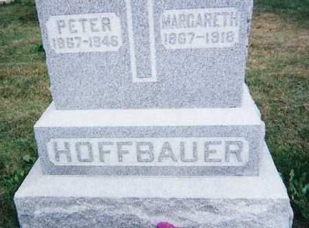 HOFFBAUER, PETER & MARGARETH - Seneca County, Ohio   PETER & MARGARETH HOFFBAUER - Ohio Gravestone Photos