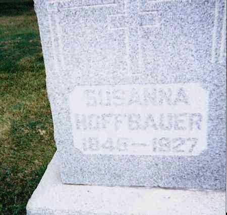 HOFFBAUER, SUSANNA - Seneca County, Ohio   SUSANNA HOFFBAUER - Ohio Gravestone Photos