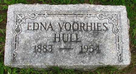 VOORHIES HULL, EDNA - Seneca County, Ohio | EDNA VOORHIES HULL - Ohio Gravestone Photos