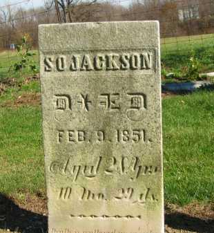 JACKSON, S. O. - Seneca County, Ohio | S. O. JACKSON - Ohio Gravestone Photos