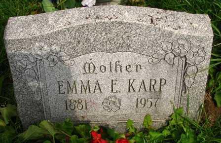 KARP, EMMA E. - Seneca County, Ohio | EMMA E. KARP - Ohio Gravestone Photos