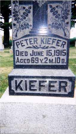 KIEFER, PETER - Seneca County, Ohio | PETER KIEFER - Ohio Gravestone Photos