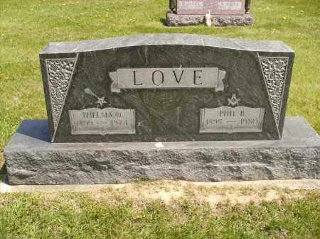 ROSIER LOVE, THELMA OLIVE - Seneca County, Ohio | THELMA OLIVE ROSIER LOVE - Ohio Gravestone Photos
