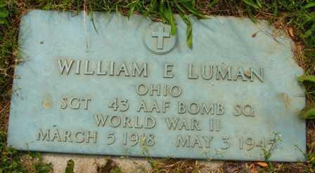 LUMAN, WILLIAM E. - Seneca County, Ohio | WILLIAM E. LUMAN - Ohio Gravestone Photos