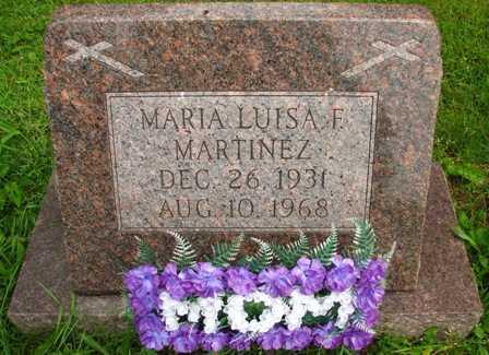 MARTINEZ, MARIA LUISA F. - Seneca County, Ohio   MARIA LUISA F. MARTINEZ - Ohio Gravestone Photos