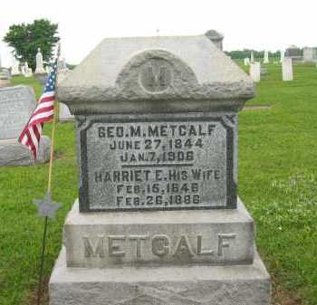 METCALF, GEO. M. - Seneca County, Ohio | GEO. M. METCALF - Ohio Gravestone Photos