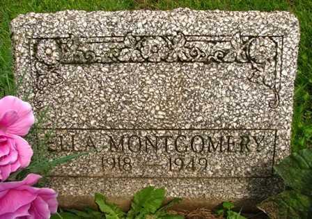 MONTGOMERY, ELLA - Seneca County, Ohio | ELLA MONTGOMERY - Ohio Gravestone Photos