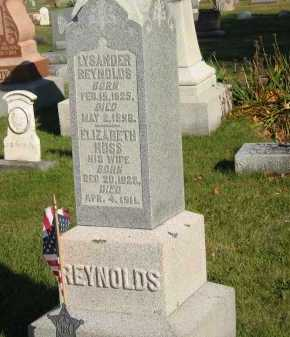 REYNOLDS, ELIZABETH - Seneca County, Ohio | ELIZABETH REYNOLDS - Ohio Gravestone Photos
