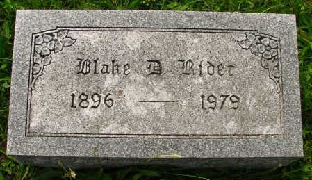 RIDER, BLAKE - Seneca County, Ohio   BLAKE RIDER - Ohio Gravestone Photos