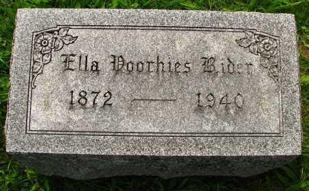 RIDER, ELLA - Seneca County, Ohio | ELLA RIDER - Ohio Gravestone Photos