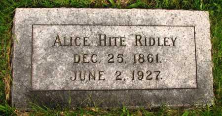 RIDLEY, ALICE - Seneca County, Ohio | ALICE RIDLEY - Ohio Gravestone Photos