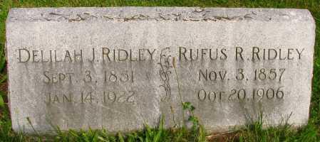 RIDLEY, RUFUS - Seneca County, Ohio   RUFUS RIDLEY - Ohio Gravestone Photos
