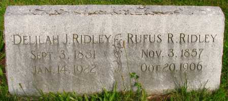 RIDLEY, RUFUS - Seneca County, Ohio | RUFUS RIDLEY - Ohio Gravestone Photos