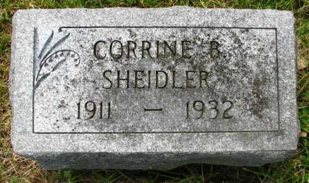 SHEIDLER, CORRINE - Seneca County, Ohio | CORRINE SHEIDLER - Ohio Gravestone Photos