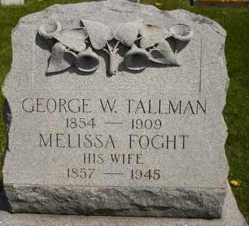 FOGHT TALLMAN, MELISSA - Seneca County, Ohio | MELISSA FOGHT TALLMAN - Ohio Gravestone Photos