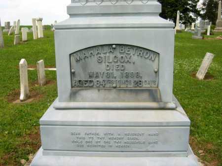 BETRON WILCOX, MAHALA - Seneca County, Ohio | MAHALA BETRON WILCOX - Ohio Gravestone Photos