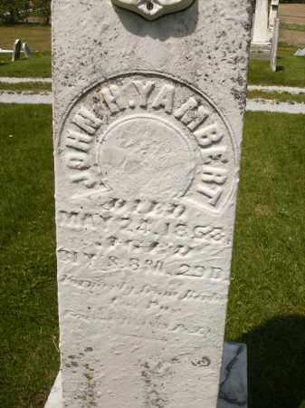YAMBERT, JOHN HENRY - Seneca County, Ohio | JOHN HENRY YAMBERT - Ohio Gravestone Photos