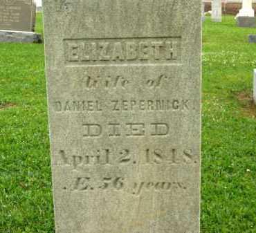 ZEPERNICK, ELIZABETH - Seneca County, Ohio | ELIZABETH ZEPERNICK - Ohio Gravestone Photos