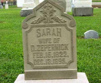ZEPERNICK, SARAH - Seneca County, Ohio   SARAH ZEPERNICK - Ohio Gravestone Photos