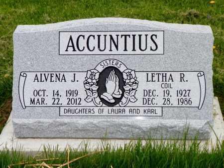 ACCUNTIUS, ALVENA J. - Shelby County, Ohio | ALVENA J. ACCUNTIUS - Ohio Gravestone Photos