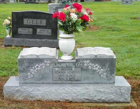 ADKINS, JOANN - Shelby County, Ohio | JOANN ADKINS - Ohio Gravestone Photos