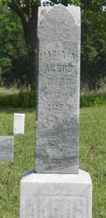 AKERS, MARIA - Shelby County, Ohio   MARIA AKERS - Ohio Gravestone Photos