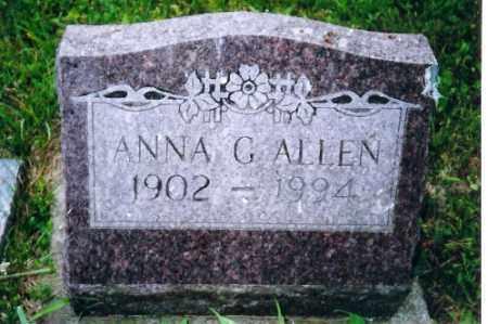 ALLEN, ANNA GERTIE - Shelby County, Ohio | ANNA GERTIE ALLEN - Ohio Gravestone Photos