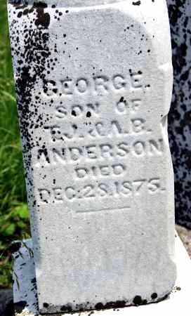 ANDERSON, GEORGE - Shelby County, Ohio | GEORGE ANDERSON - Ohio Gravestone Photos