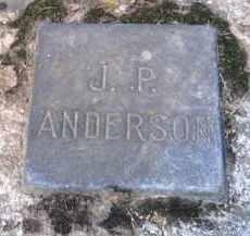 ANDERSON, J. P. - Shelby County, Ohio | J. P. ANDERSON - Ohio Gravestone Photos