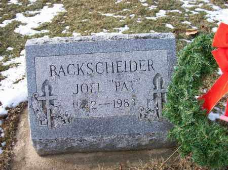 "BACKSCHEIDER, JOEL ""PAT"" - Shelby County, Ohio | JOEL ""PAT"" BACKSCHEIDER - Ohio Gravestone Photos"