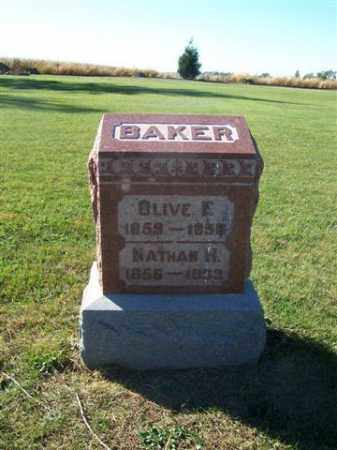 BAKER, NATHAN H - Shelby County, Ohio | NATHAN H BAKER - Ohio Gravestone Photos