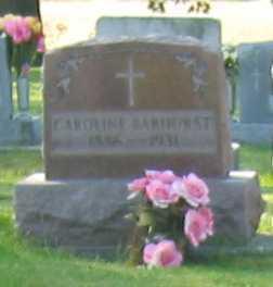BARHORST, CAROLINE - Shelby County, Ohio | CAROLINE BARHORST - Ohio Gravestone Photos