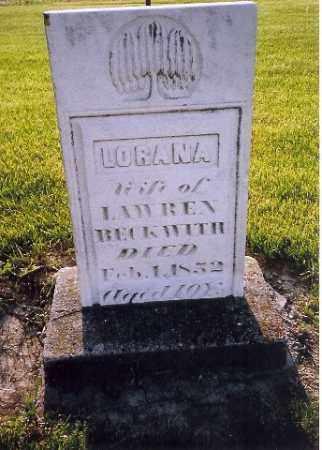 BECKWITH, LORANA - Shelby County, Ohio | LORANA BECKWITH - Ohio Gravestone Photos