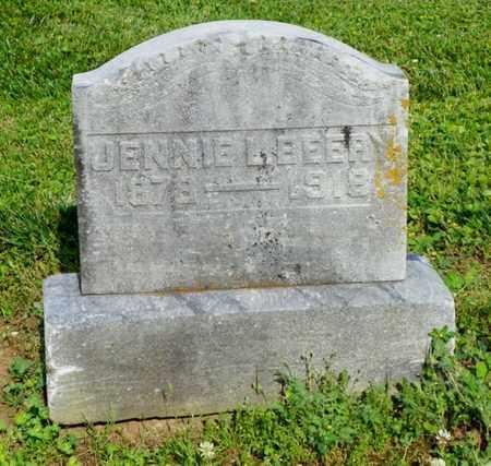 BEERY, JENNIE L. - Shelby County, Ohio   JENNIE L. BEERY - Ohio Gravestone Photos