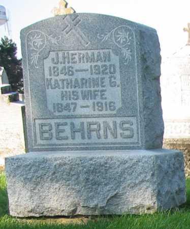 BEHRNS, J. HERMAN - Shelby County, Ohio   J. HERMAN BEHRNS - Ohio Gravestone Photos
