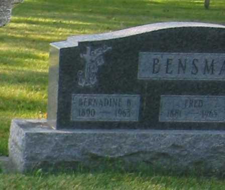 BENSMAN, BERNADINE B. - Shelby County, Ohio | BERNADINE B. BENSMAN - Ohio Gravestone Photos