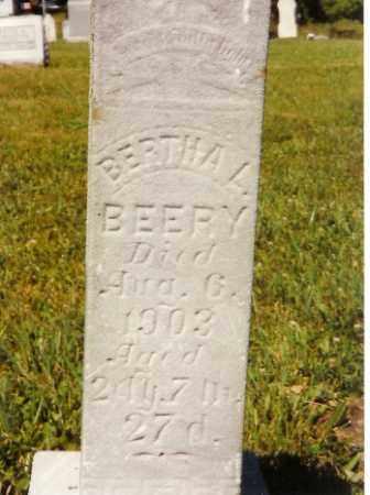 BEERY, BERTHA L. - Shelby County, Ohio | BERTHA L. BEERY - Ohio Gravestone Photos